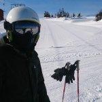 Xu Liu skiing